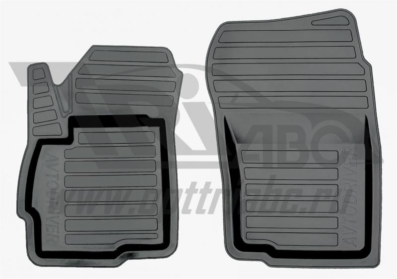 Коврики салона резиновые с бортиком для Mitsubishi Outlander XL (2006-2012) (2 передних), ADRAVG0182