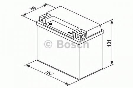 Аккумуляторная батарея Bosch Funstart AGM, 12 В, 10 А/ч, 90 А, 0092M60140