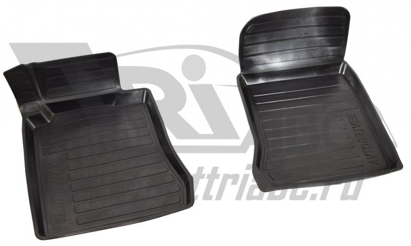 Коврики салона резиновые с бортиком для Mercedes-Benz W210 (1995-2002) (2 передних), ADRAVG2532
