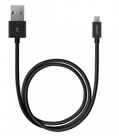 Дата-кабель USB-mini USB, 1.2м, черный, DEPPA, 72104