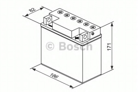 Аккумуляторная батарея Bosch Funstart FreshPack, 12 В, 18 А/ч, 150 А, 0092M4F410