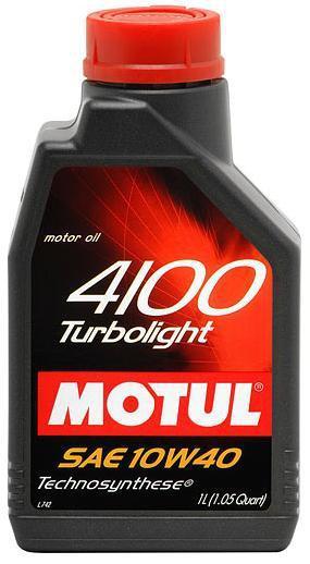 Масло моторное MOTUL 4100 TURBOLIGHT, 10W-40, 1л, 100348