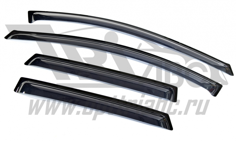 Дефлекторы боковых окон Hyundai i30 WG (2012-) (4 части) (темн.), SHYI30W1232