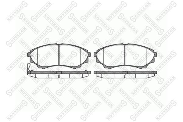 Колодки дисковые, STELLOX, 1162000SX
