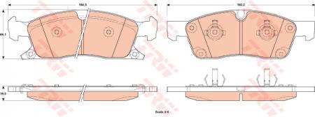 Колодки дисковые Передние, TRW, GDB4603