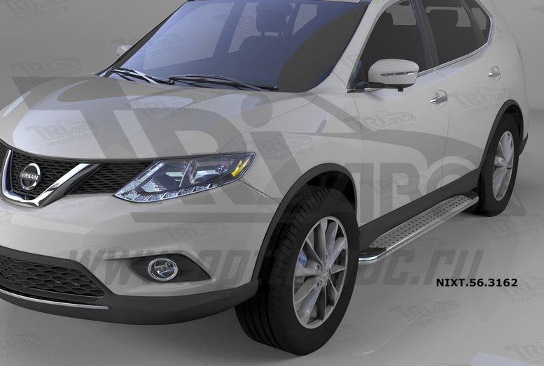 Пороги алюминиевые (Opal) Nissan X-Trail (2014-), NIXT563162