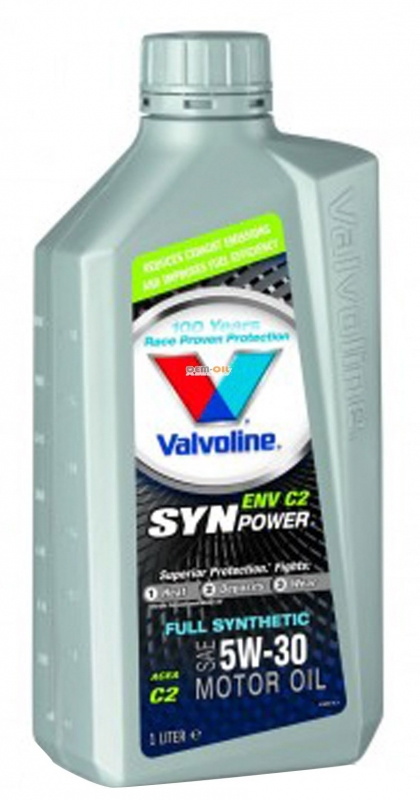 Моторное масло VALVOLINE Synpower ENV C2, 5W-30, 1л, 618606