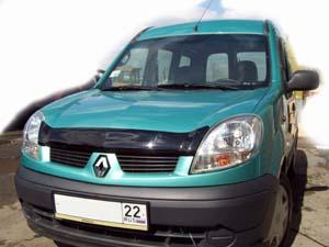 Дефлектор капота Renault Kangoo (2006-) (темн.), SREKAN0612