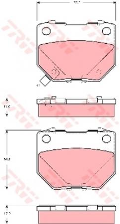 Колодки дисковые Задние, TRW, GDB3308