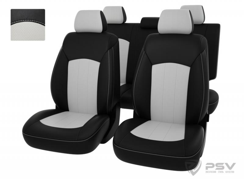 "Чехлы Hyundai i40 11-> чер-бел экокожа ""Оригинал"", 123534"