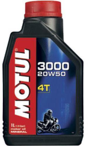 Моторное масло MOTUL 3000 4T, 20W-50, 1л, 104048