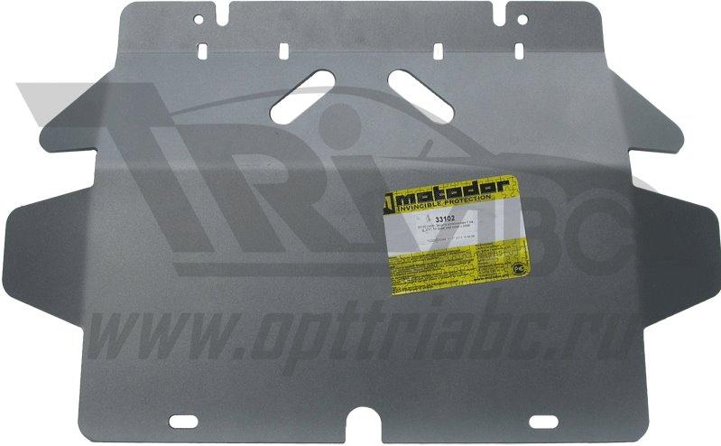 Защита картера двигателя, КПП, РК Great Wall Hover (H3,H5) 2010- V=2,4; 3 части (алюминий 5 мм), MOT