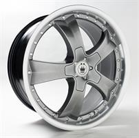 Колесный диск Konig SF22 8.5x19/5x112 D60.1 ET35 насыщенный серый с полированным ободом (HDLP)