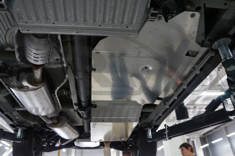 Защита днища Acura MDX'14 V-3,5 АКПП (2014-) из 4 частей (Алюминий 4 мм), 0929ABC