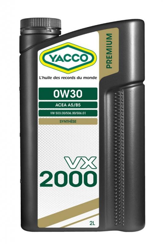 Масло моторное YACCO VX 2000 синт. 0W30, (2 л)