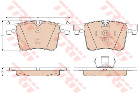 Колодки дисковые Передние, TRW, GDB1942