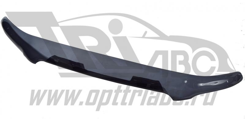 Дефлектор капота Toyota Highlander (Тойота Хайлендер) (2001-2009) (темный), STOHIG0112