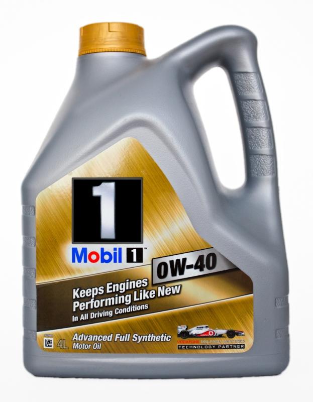Моторное масло Mobil 1, 0W-40, 4л