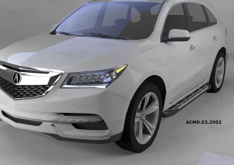 Пороги алюминиевые (Corund Silver) Acura MDX (2014-), ACMD532502