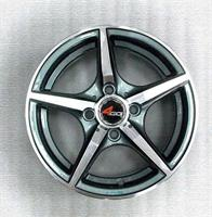 Колесный диск 4go 539 5.5x13/4x98 D65.1 ET23 тёмно-серый с алм.обр.лиц.поверх (GMMF)