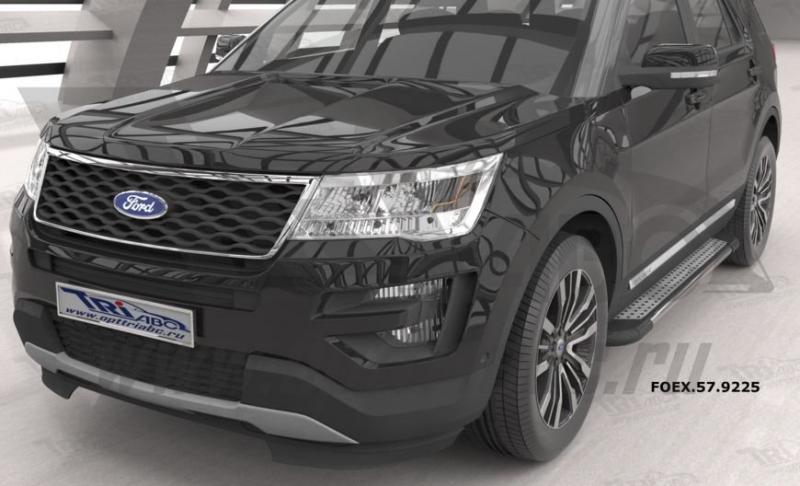 Пороги алюминиевые (Topaz) Ford Explorer (2011-), FOEX579225