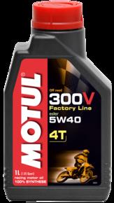Моторное масло MOTUL 300V 4T Off Road, 5W-40, 1л, 102707