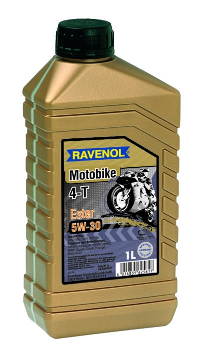 Моторное масло RAVENOL Motobike 4-T Ester, 5W-30, 1 л, 4014835701717