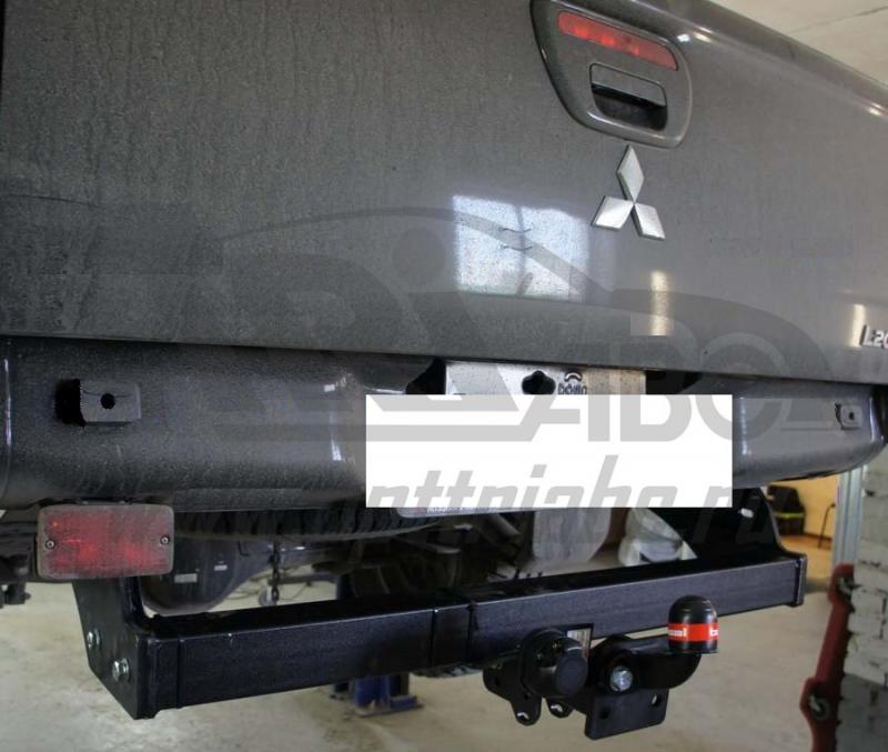 Фаркоп для Mitsubishi L200 (2014-07.2015) крюк тип F ( грузоподъемность 1500 кг) (без электрики), BO