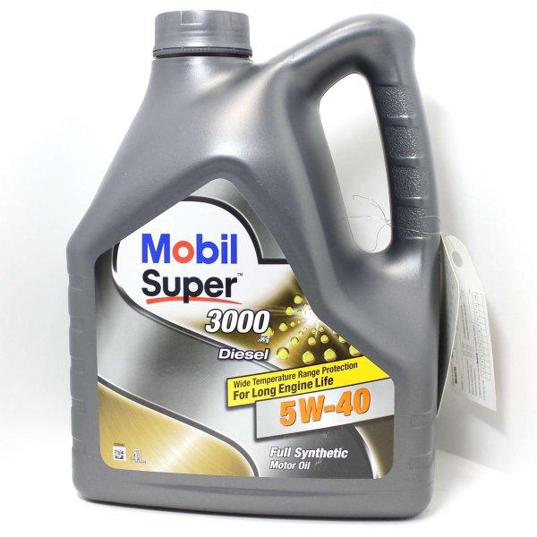 Моторное масло Mobil Super 3000 X1 Diesel, 5W-40, 4л