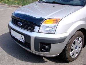Дефлектор капота Ford Fusion (Форд Фьюжн) (2004-) (темный), SFOFUS0412