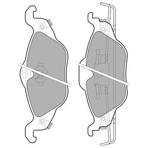 Колодки дисковые, DELPHI, LP1673