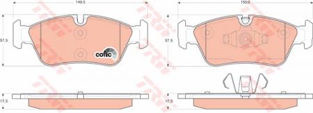 Колодки дисковые Передние, TRW, GDB1625