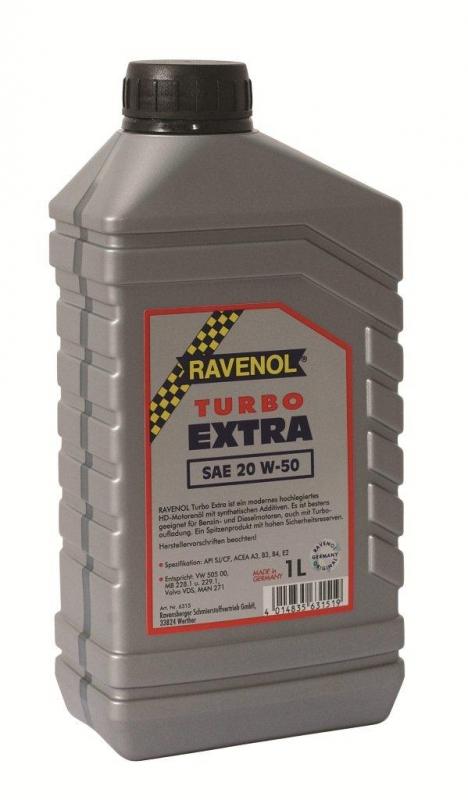 Моторное масло RAVENOL Turbo Extra, 20W-50, 1 л, 4014835631519