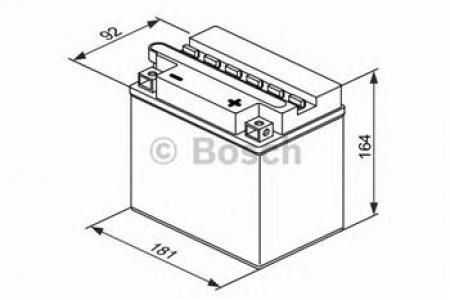 Аккумуляторная батарея Bosch Funstart FreshPack, 12 В, 18 А/ч, 180 А, 0092M4F420