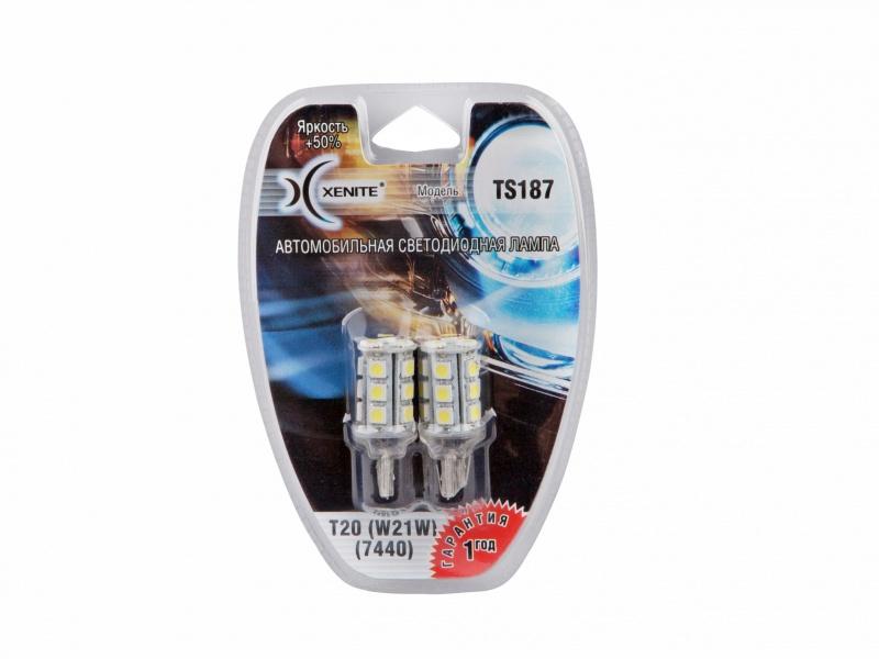 Лампа светодиодная поворотника XENITE (Яркость +50%) блистер 2шт. T20, 1009293