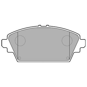 Колодки дисковые, DELPHI, LP1732