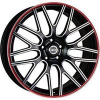 Колесный диск X-Race AF-01 6.5x16/5x112 D63.3 ET50 черный матовый полированный с красной полосой по