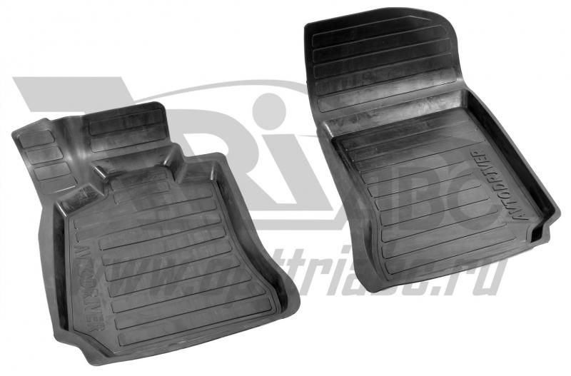 Коврики салона резиновые с бортиком для Mercedes-Benz C-klasse W204 (2006-) (2 передних), ADRAVG1542