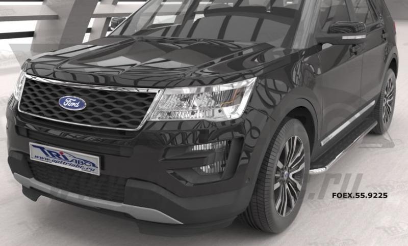 Пороги алюминиевые (Ring) Ford Explorer (2011-), FOEX559225