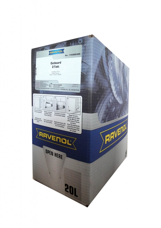Моторное масло RAVENOL Outboard 2T Mineral, 20л, 4014835780323
