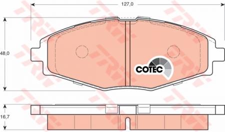 Колодки дисковые Передние, TRW, GDB3195
