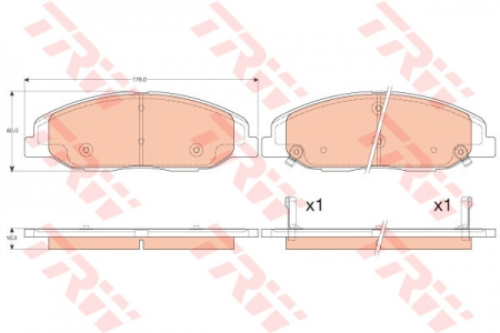 Колодки дисковые Передние, TRW, GDB4457