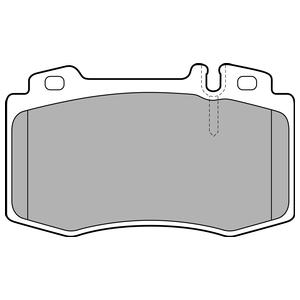Колодки дисковые, DELPHI, LP1828