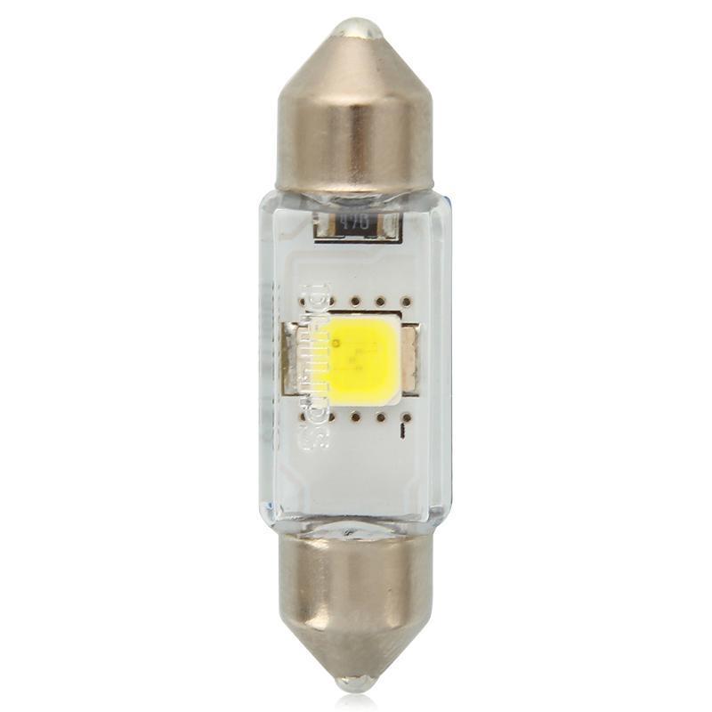 """Лампа """"Festoon LED"""", 12 В, 1 Вт, C5W, SV8,5, PHILIPS, 12859 6000KX1"""