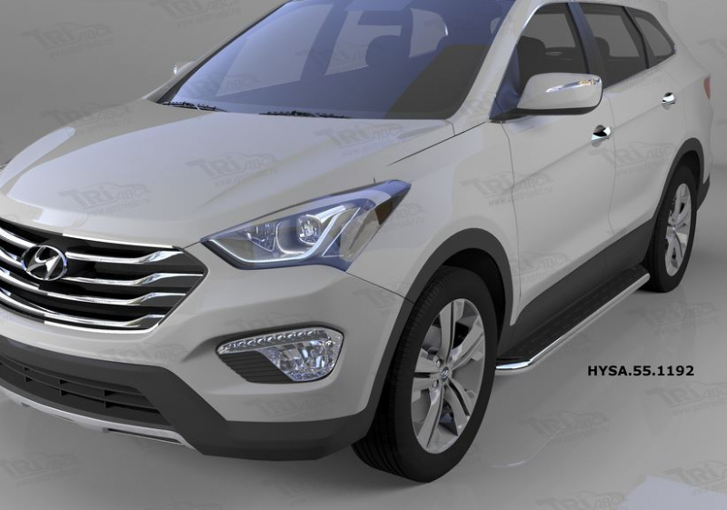 Пороги алюминиевые (Ring) Hyundai Santa Fe (Хёндай Санта Фе) (2012-/2013-/2015-), HYSA551192