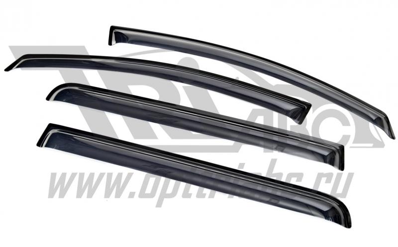 Дефлекторы боковых окон Opel Zafira B (2006-2012)(4части )(темные), SOPZAF0632