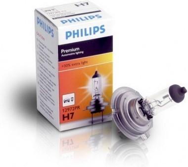 Лампа, 12 В, 55 Вт, H7, PX26d, PHILIPS, 12972 PR