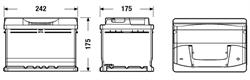 Аккумулятор TUDOR Technica 60 А/ч TB602 ОБР. 242x175x175 EN 540