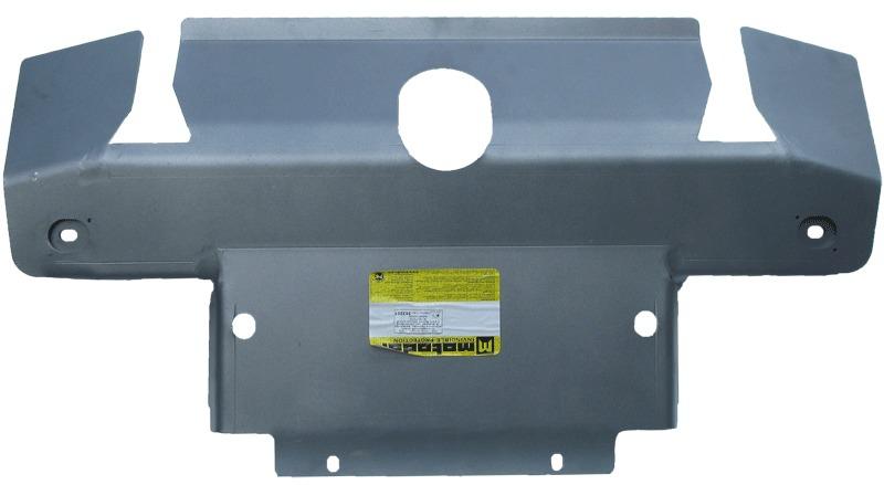 Защита пер. бампера, радиатора, рулевых тяг Land Rover Discovery III 2004-2009 V=2,7TD (алюминий 8 м