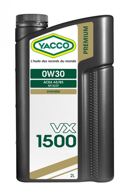 Масло моторное YACCO VX 1500 синт. 0W30,SL/CF (2 л)